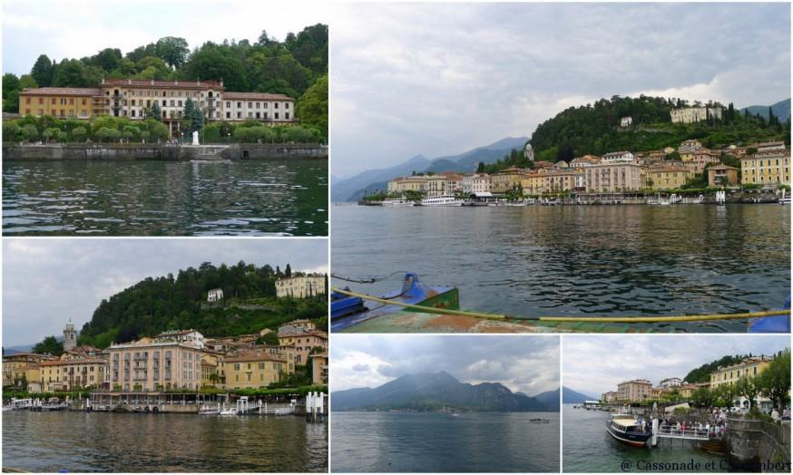 Arrivée en ferry au village de Bellagio sur le lac de Côme