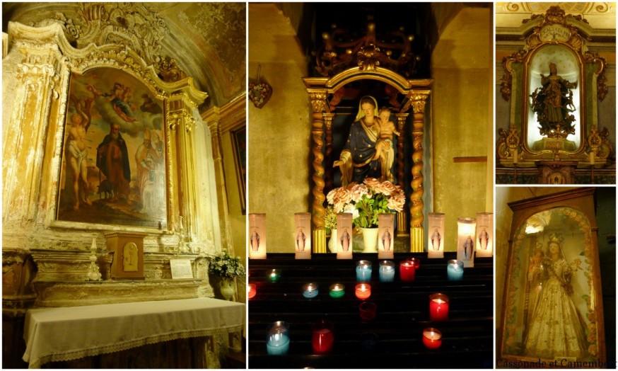 Les chapelles de l'église Notre-Dame-de-l'Assomption du village d'Eze