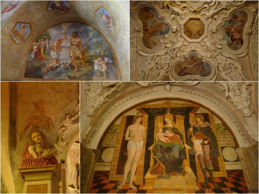 Les chapelles de la basilique San Fidele de la ville de Côme