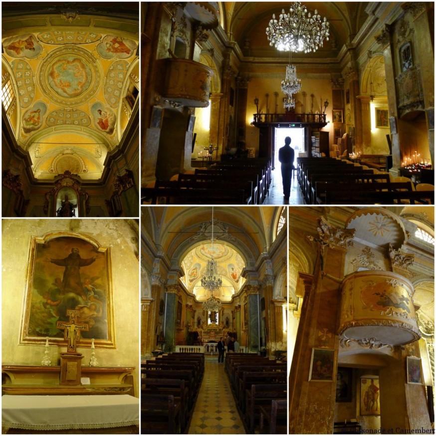 L'eglise Notre-Dame-de-l'Assomption du village d'Eze