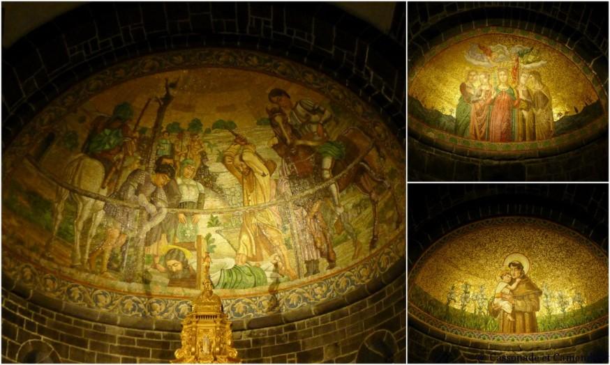 Mosaïques de l'église San Giacomo de Bellagio sur le lac de Come