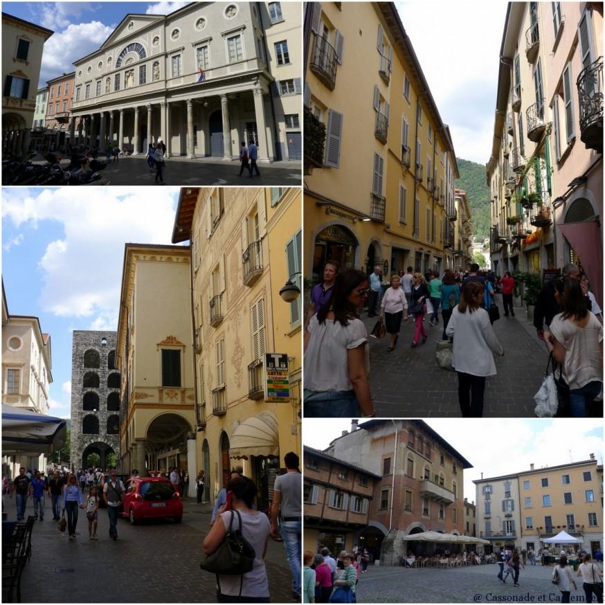 Les rues du centre ancien de la ville de Côme