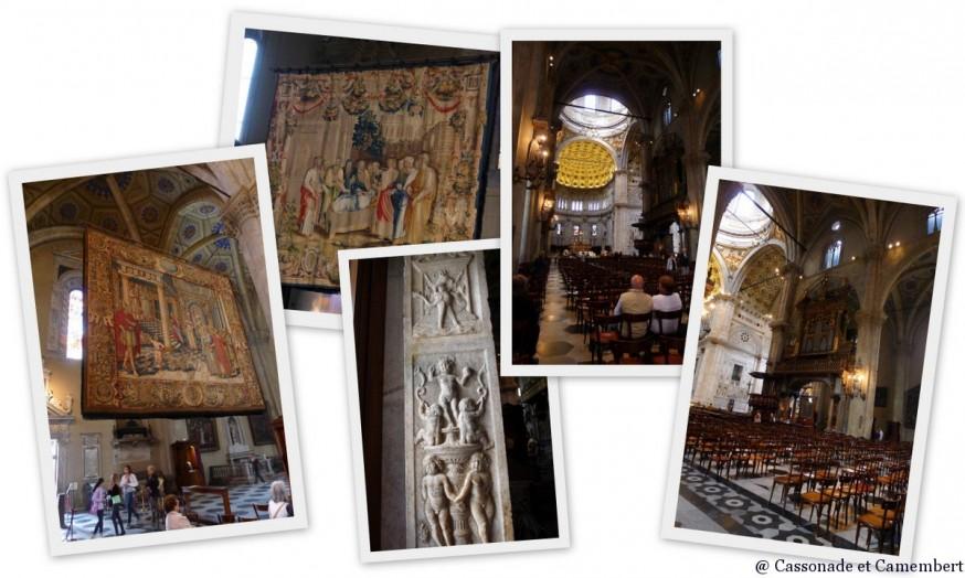 Les tapisseries de la cathédrale de la ville de Côme
