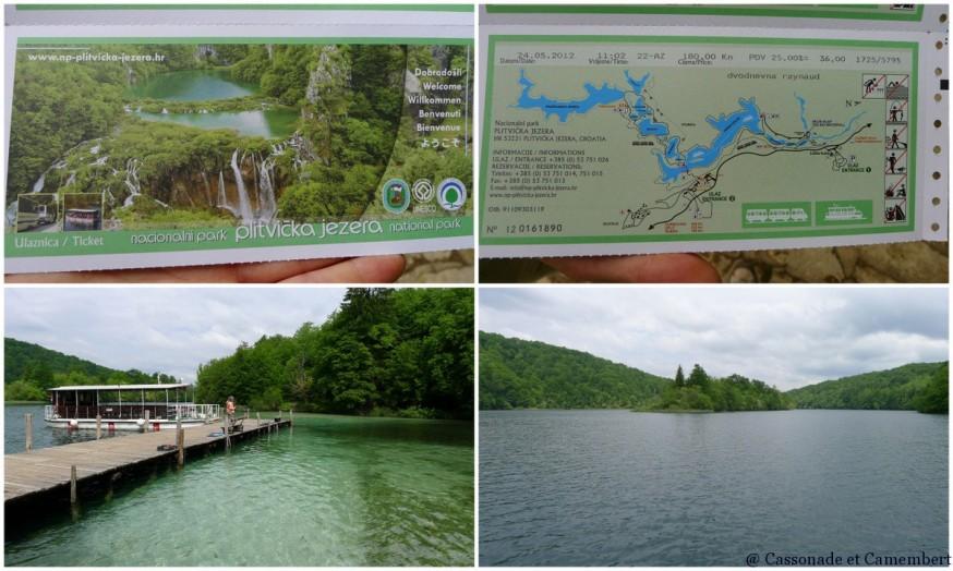 Entrée dans le Parc des lacs de Plitvice