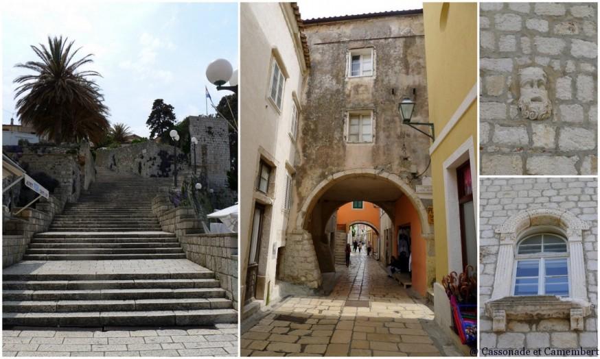Escaliers  ruelles ville Rab