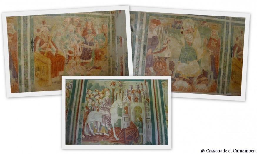 Fresque entrée dans Jerusalem église Beram Istrie