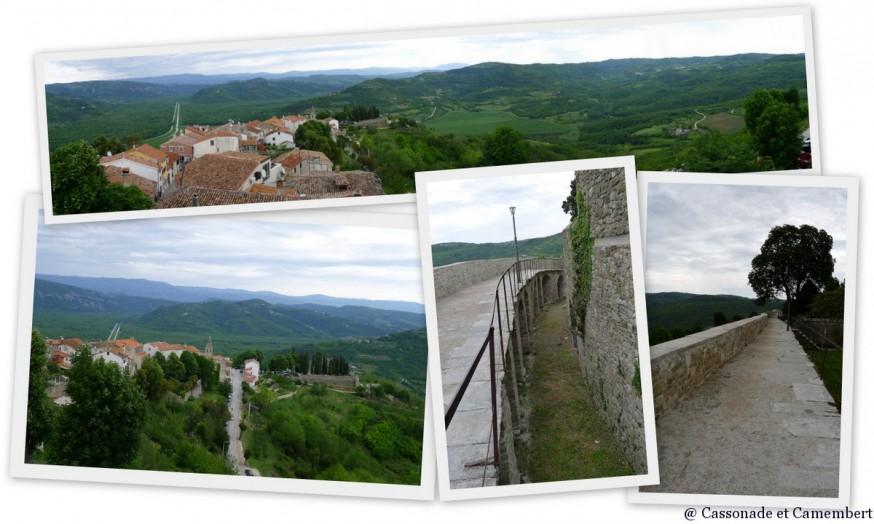 Les remparts de Motovun en Istrie