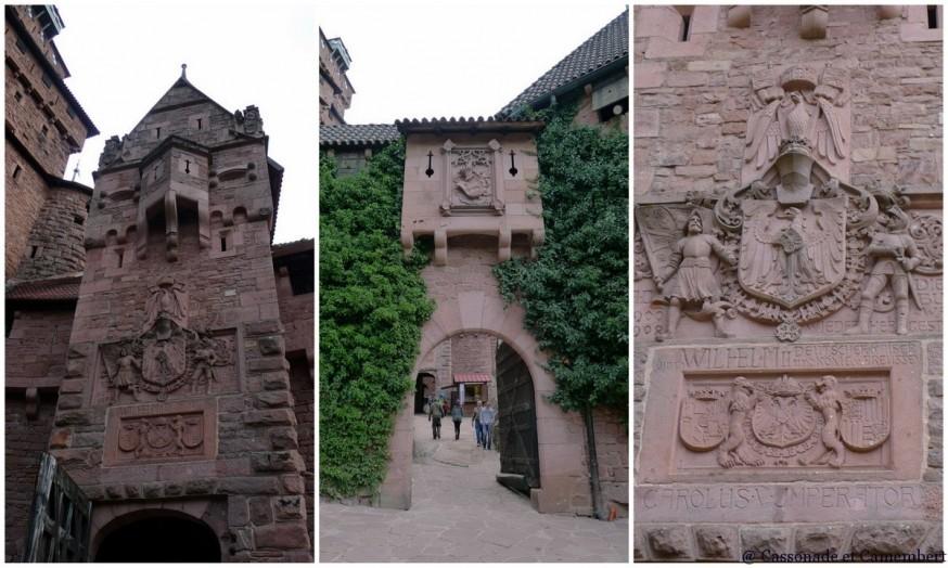 Entree chateau Haut Konigsbourg