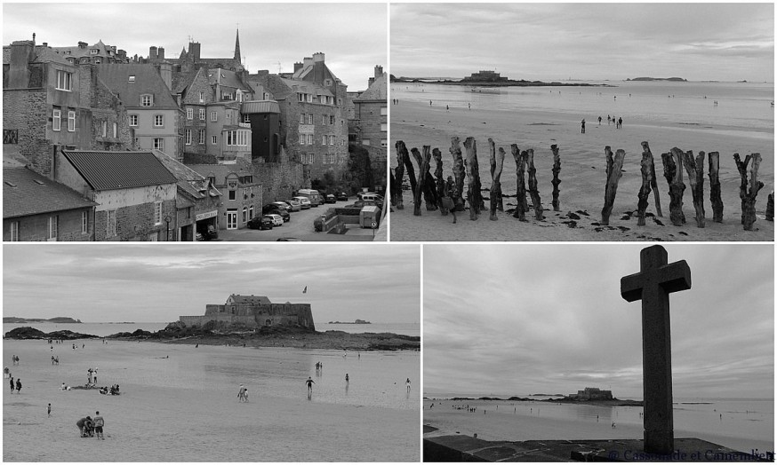 Fort national de Saint Malo noir et blanc
