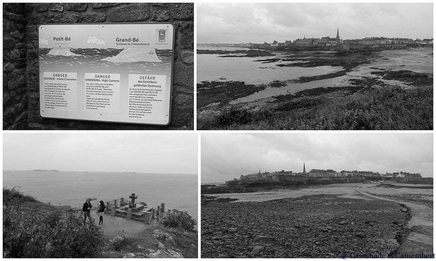 Grand Bé Saint Malo noir et blanc
