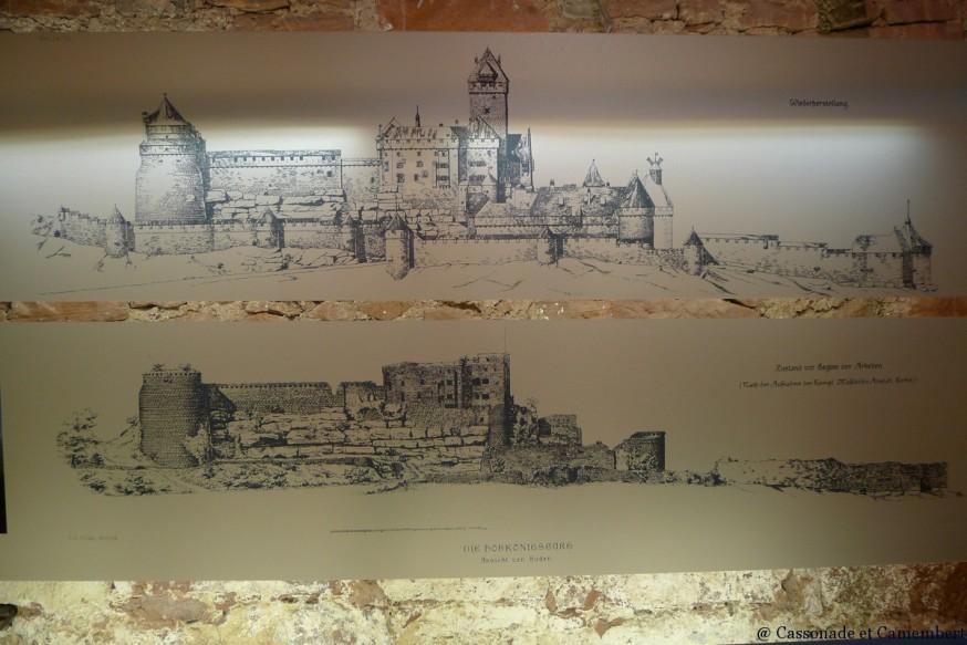 Reconstruction chateau Haut Konigsbourg