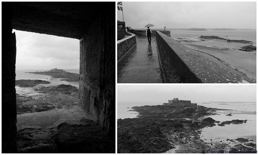 Remparts Saint Malo noir et blanc