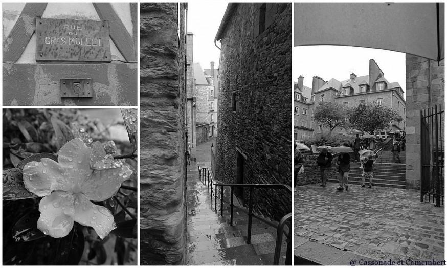 Ruelles Saint Malo noir et blanc
