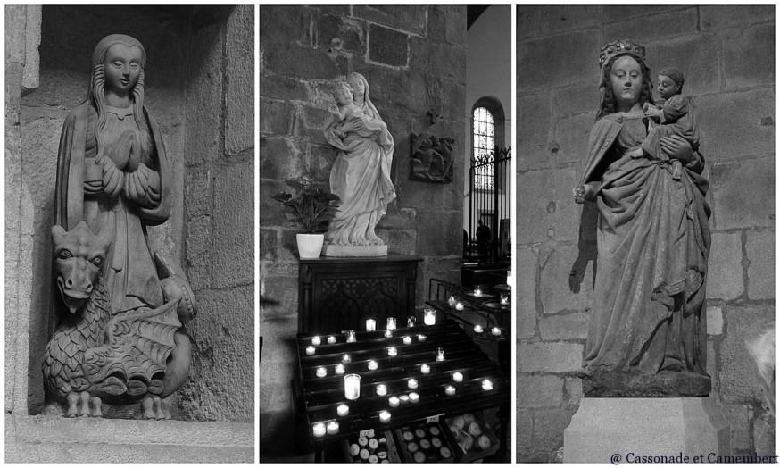 Statues Eglise Saint Malo noir et blanc