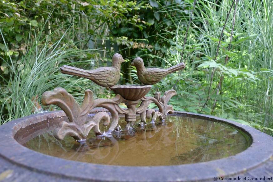 Bain d oiseaux jardins du pays d auge