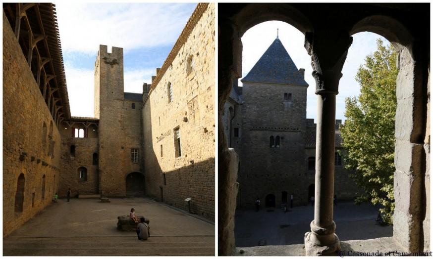 Carcassonne chateau cour interieure