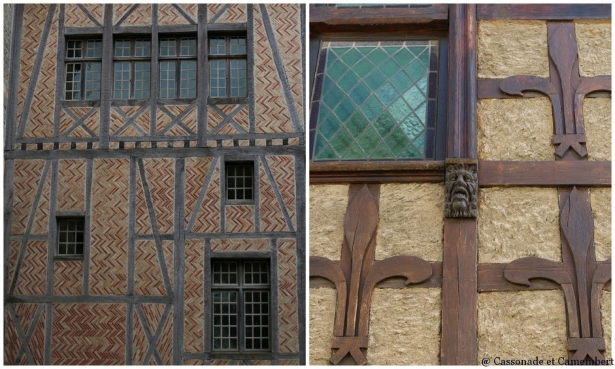 Carcassonne maisons a pans de bois