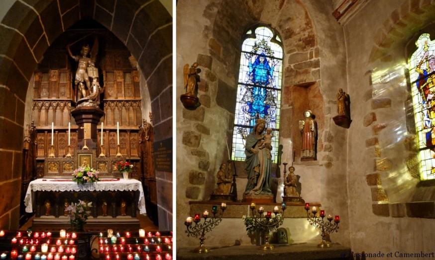 Intérieur église Mont Saint Michel