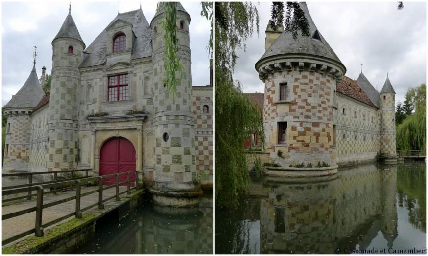 Pierre et briques vernissées Pré d Auge St Germain de Livet chateau pays d auge