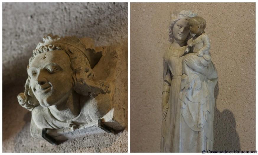 Statues musee chateau de Carcassonne