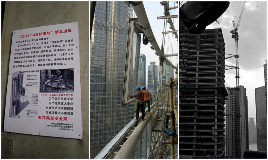 Chantier de construction gratte-ciel shanghai