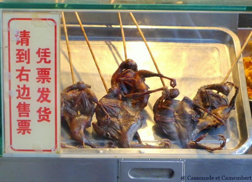 Chauve-souris grillees vieille ville shanghai