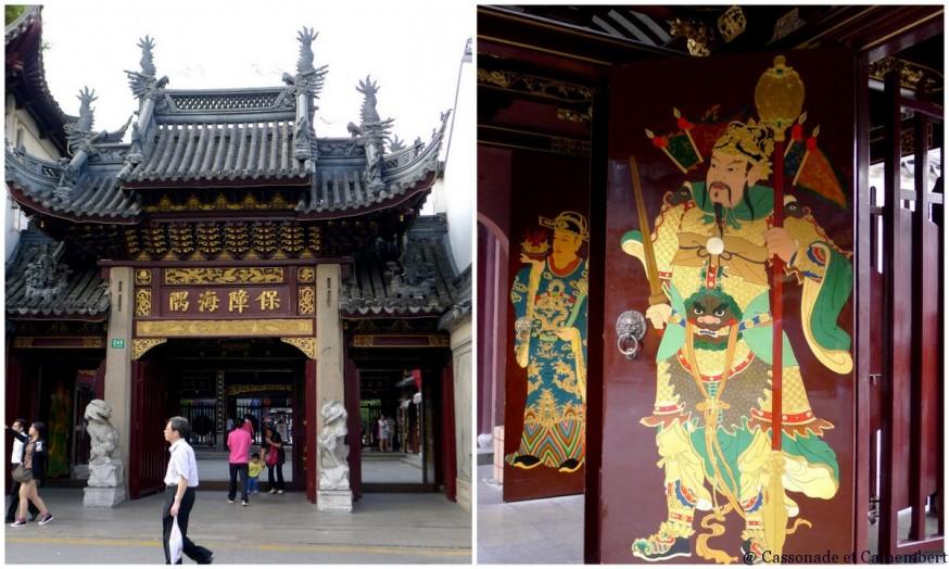 Entree temple des dieux Chenghuang Shanghai