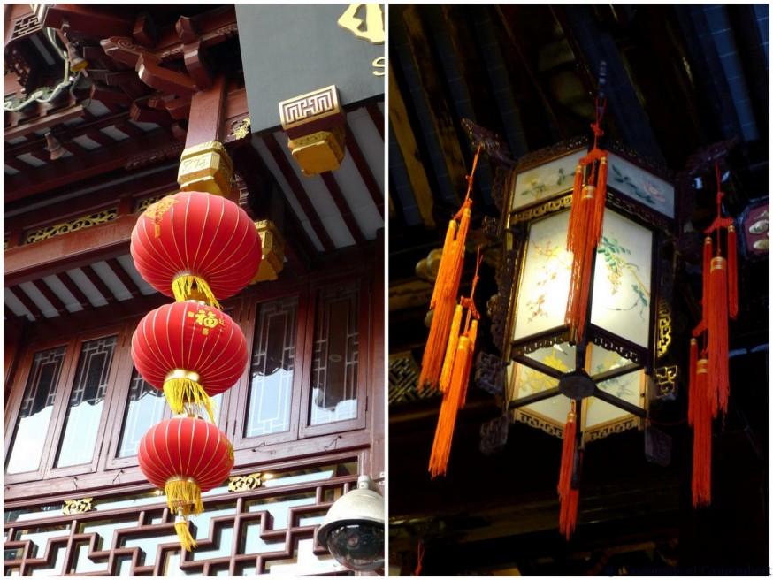 Lanternes vieille ville shanghai