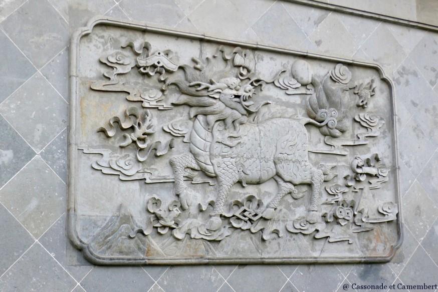 Mur temple des dieux Chenghuang Shanghai