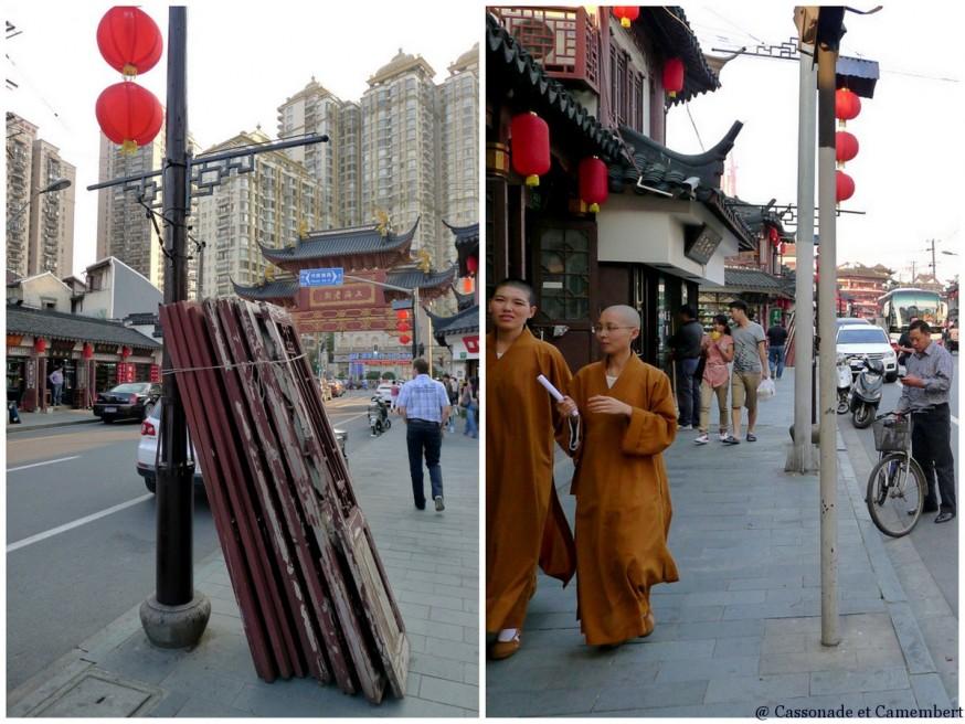 Portes et moines vieille rue shanghai