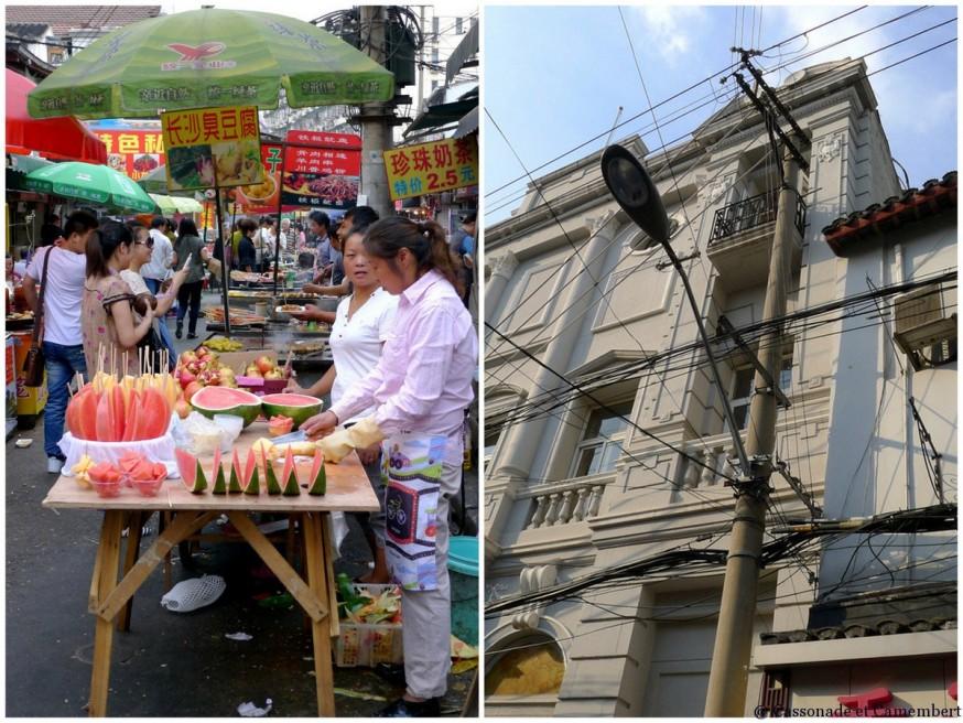 Rues vieille ville shanghai