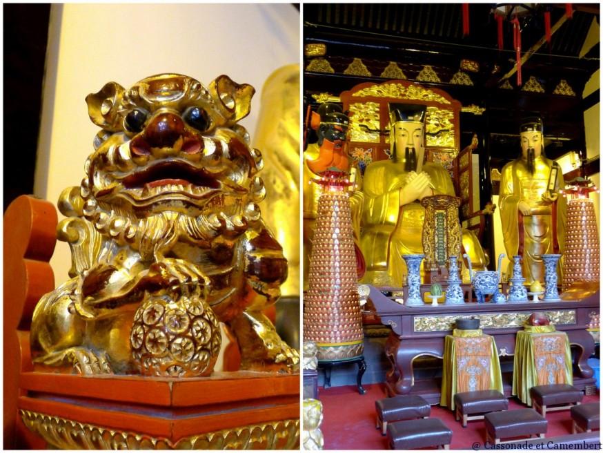 Statue temple des dieux Chenghang Shanghai