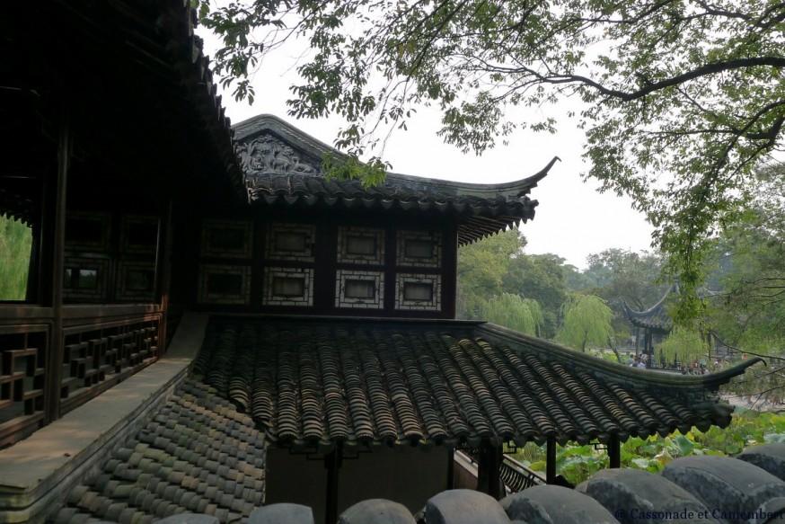 Toits Pavillon suzhou jardin humble administrateur