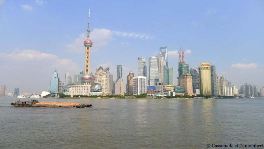 Vue depuis Bund gratte-ciel shanghai
