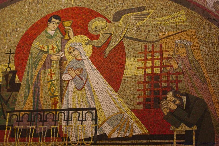 Mosaique communion de Ste Therese - Basilique de Lisieux