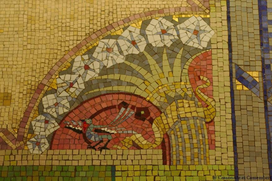 Mosaique oiseaux - Basilique de Lisieux
