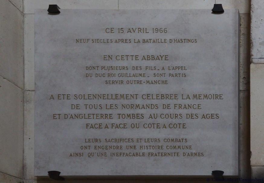 Plaque commemorative abbaye du Bec-Hellouin
