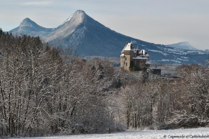 Chateau de Menthon sous la neige