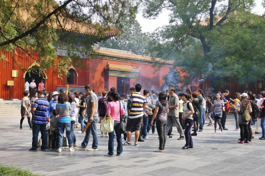 Cour interieure temple des lamas pekin