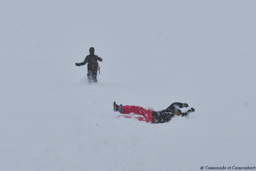 Roulade dans la neige Manigod