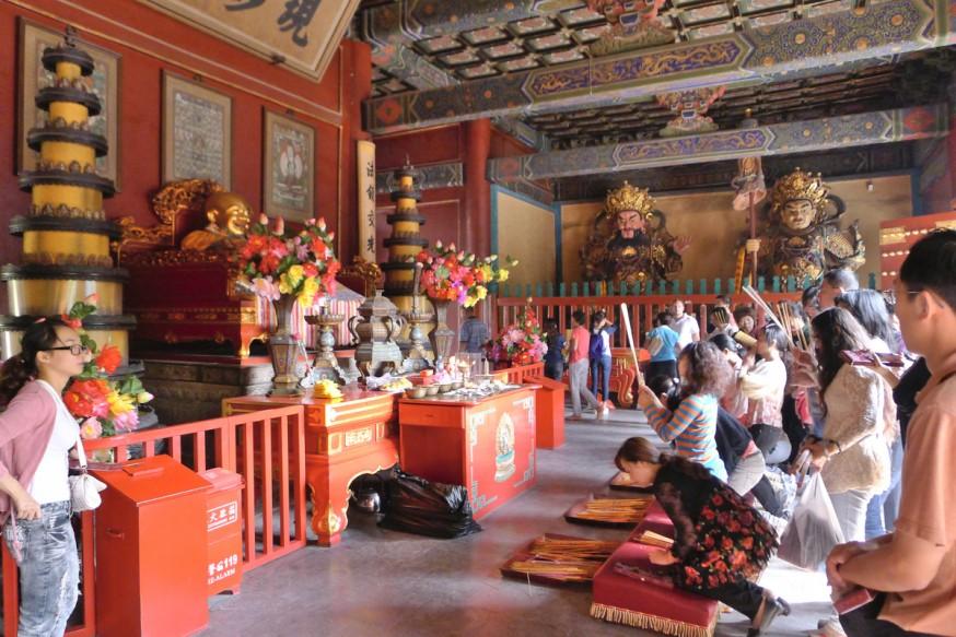 Salle bouddha temple des lamas pekin