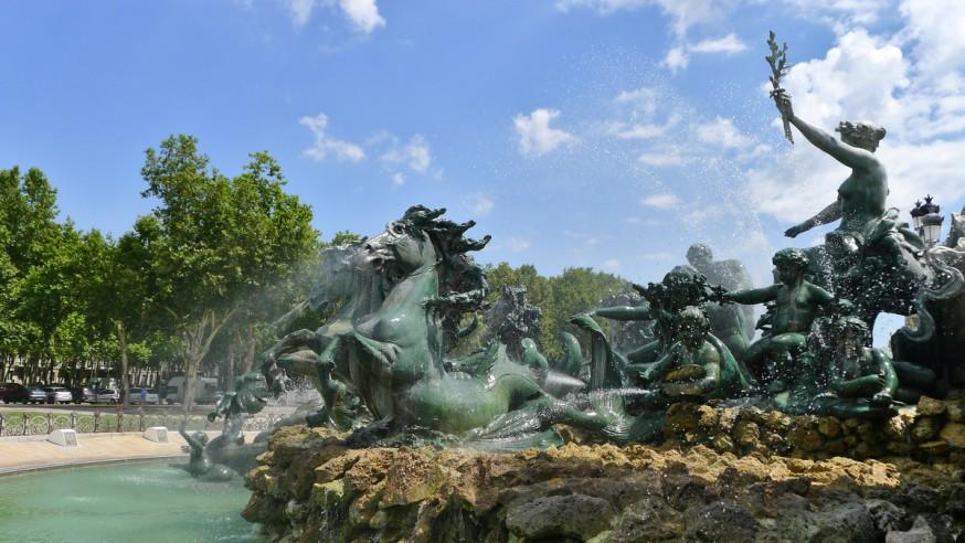 Fontaine du monument aux girondins bordeaux