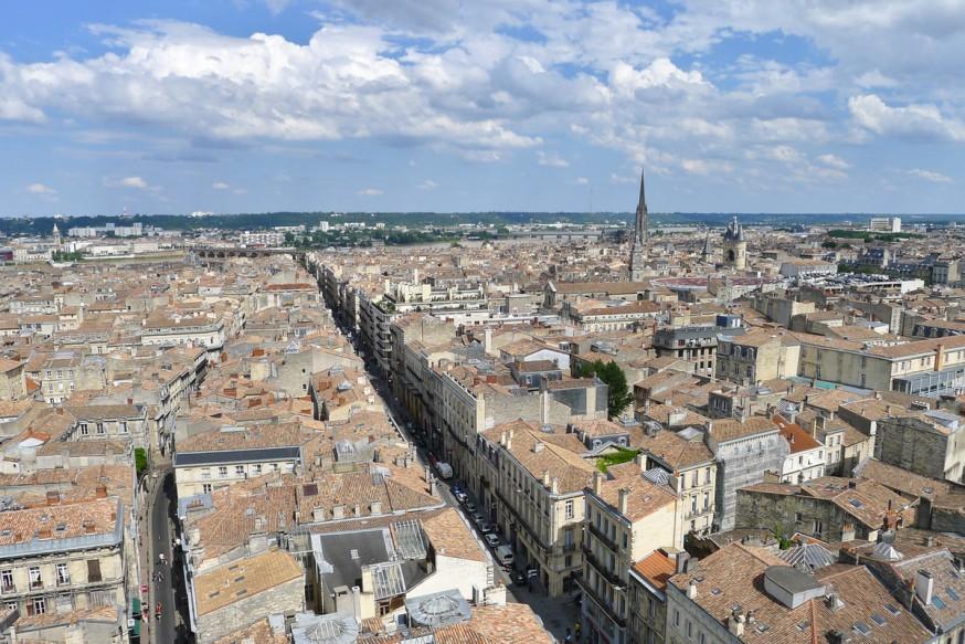 Vue depuis la tour Pey Berland Bordeaux