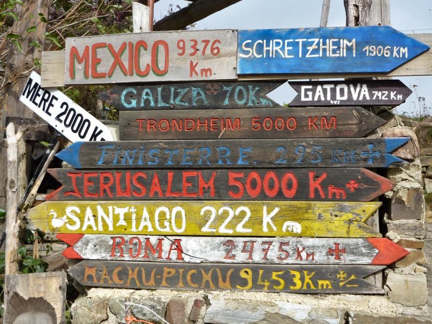 Compostelle - Bierzo - Panneaux de Manjarin