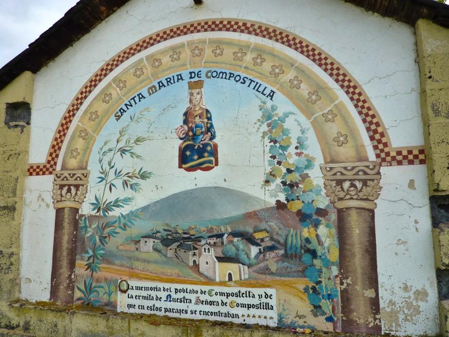 Compostelle - Bierzo - Peinture église de Compostilla