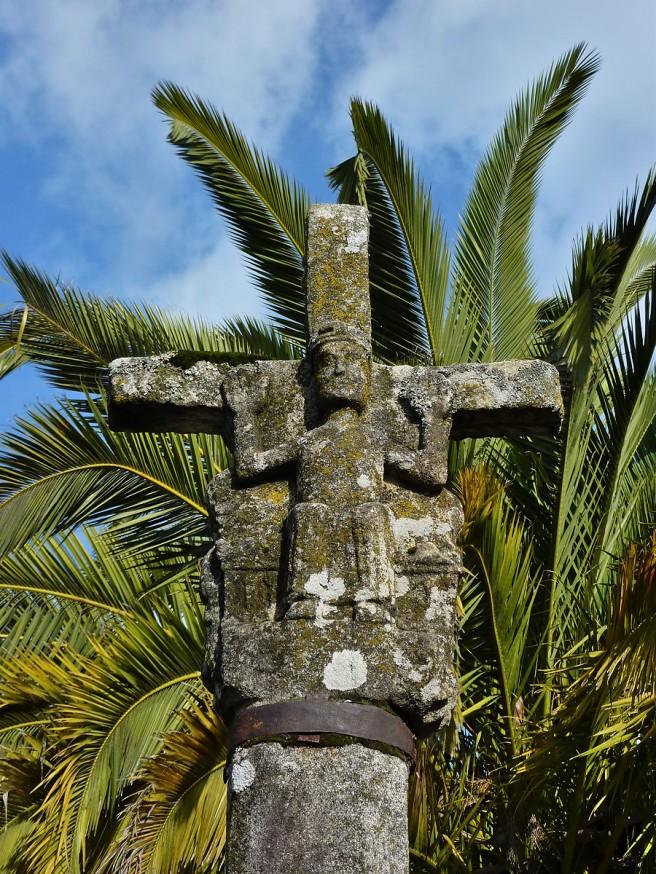 Croix de Galice et palmier - Compostelle