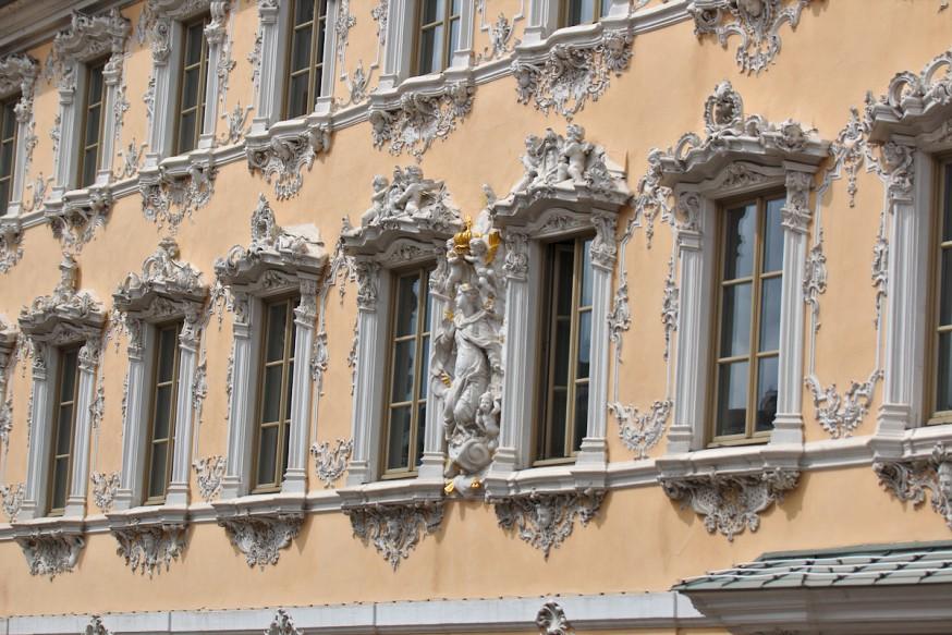 Facade de la maison baroque Zum Falken - Würzburg