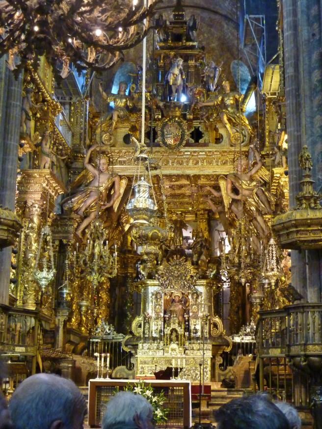 Interieur de la cathedrale - Encensoir Botafumeiro - Saint-Jacques-de-Compostelle