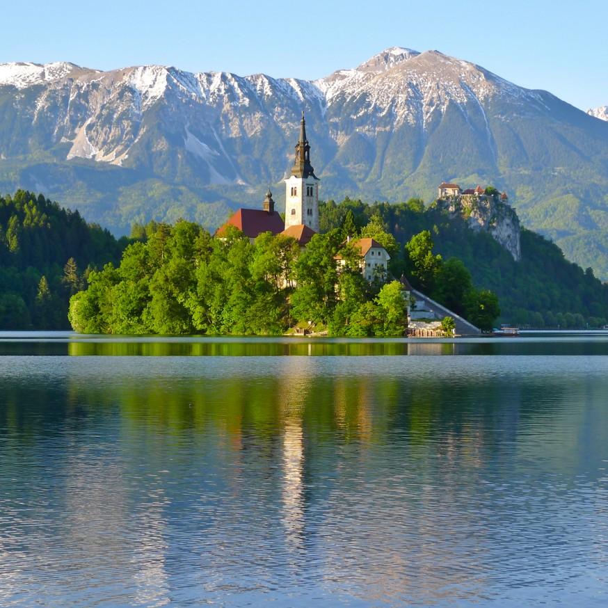 Lac de Bled - Eglise et chateau