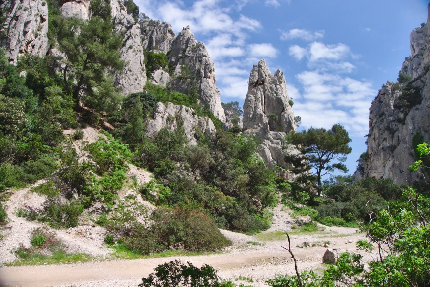 Terrain de jeu pour l'escalade - Calanque d'En-Vau